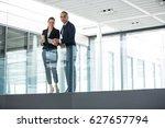 portrait of business colleagues ... | Shutterstock . vector #627657794