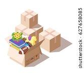 vector isometric illustration... | Shutterstock .eps vector #627658085