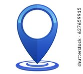 gps. gps pin blue color with... | Shutterstock .eps vector #627659915