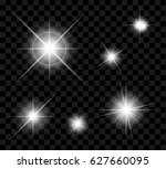 light of stars effect set | Shutterstock .eps vector #627660095