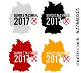 bundestagswahl 2017   german... | Shutterstock .eps vector #627660305