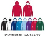 sportswear zipped hoodie   ...   Shutterstock .eps vector #627661799