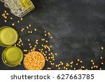 research on gold corn energy... | Shutterstock . vector #627663785