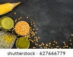 corn genetically modified food... | Shutterstock . vector #627666779