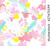 summer fashion print with... | Shutterstock .eps vector #627670199