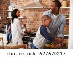 children helping parents to... | Shutterstock . vector #627670217