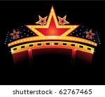 gold glowing neon with star... | Shutterstock .eps vector #62767465