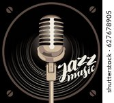 vector poster for the jazz... | Shutterstock .eps vector #627678905