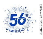 56th anniversary logo with... | Shutterstock .eps vector #627679085