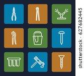 repair icons set. set of 9... | Shutterstock .eps vector #627682445
