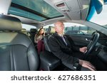professional driver riding taxi ...   Shutterstock . vector #627686351