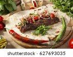 turkish and arabian traditional ... | Shutterstock . vector #627693035