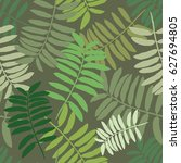 tropical seamless pattern with... | Shutterstock .eps vector #627694805