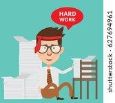 businessman concept design... | Shutterstock .eps vector #627694961