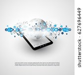 internet of things  cloud... | Shutterstock .eps vector #627696449
