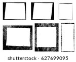 set of frames and textures | Shutterstock .eps vector #627699095