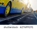 coach buses near the... | Shutterstock . vector #627699191