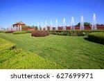 tiananmen square in beijing ... | Shutterstock . vector #627699971