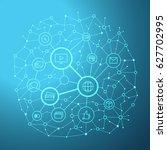 social media network vector... | Shutterstock .eps vector #627702995