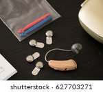 hearing aid and accessories  | Shutterstock . vector #627703271