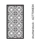 stencil flower frame by... | Shutterstock .eps vector #627704834