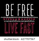 apparel print. vector... | Shutterstock .eps vector #627707567