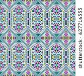 aztec tribal pattern. trendy... | Shutterstock .eps vector #627716555