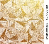 gold background with abstract... | Shutterstock .eps vector #627729485