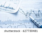 showing business and financial... | Shutterstock . vector #627730481