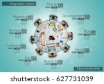 infograph background template... | Shutterstock . vector #627731039