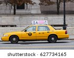 new york  usa   nov 19  yellow... | Shutterstock . vector #627734165