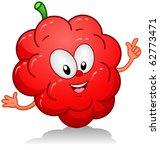 illustration of a raspberry... | Shutterstock .eps vector #62773471