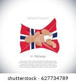 what future in norway  baby in... | Shutterstock .eps vector #627734789