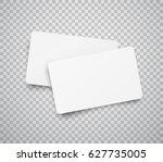 blank horizontal plastic  paper ... | Shutterstock .eps vector #627735005