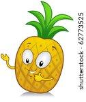 illustration of a pineapple... | Shutterstock .eps vector #62773525