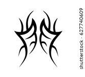 tribal tattoo art designs.... | Shutterstock .eps vector #627740609