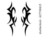 tribal tattoo art designs.... | Shutterstock .eps vector #627740615