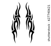 tribal tattoo art designs.... | Shutterstock .eps vector #627740621