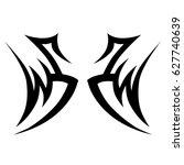 tribal tattoo art designs.... | Shutterstock .eps vector #627740639