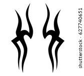 tattoo tribal vector designs.... | Shutterstock .eps vector #627740651