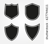 set of shield shapes.vector... | Shutterstock .eps vector #627744611