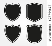set of shield shapes.vector... | Shutterstock .eps vector #627744617
