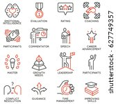 vector set icons related to... | Shutterstock .eps vector #627749357