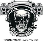 vector illustration  skull of...   Shutterstock .eps vector #627749651