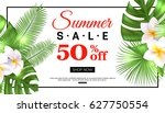 summer sale banner design with... | Shutterstock .eps vector #627750554