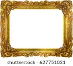 gold photo frame thai style... | Shutterstock .eps vector #627751031