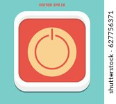power button icon   Shutterstock .eps vector #627756371
