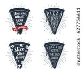 hand drawn labels set with... | Shutterstock .eps vector #627756611