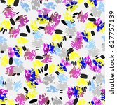 abstract seamless pattern with... | Shutterstock .eps vector #627757139