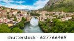 panorama of the old bridge in...   Shutterstock . vector #627766469
